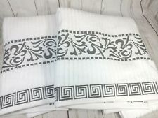Superior Athens 100% Cotton Soft Extremely Absorbent Beautiful 2 Piece Towel Set