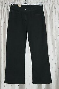 Cotton Traders Ladies Black Stretch Bootcut Jeans ~ Size 12 ~ Mid Rise ~ NWT