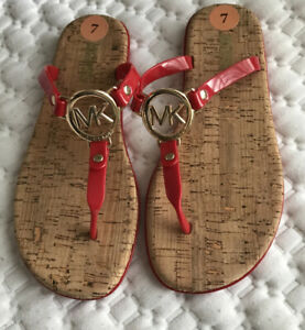 Women's sandals MICHAEL KORS Charm Jelly Sandals Red gold Hardwere size 7M