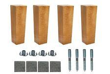 4x Wooden Furniture 6'' Tapered Feet Legs Sand Oak Beech For Sofa Chest Stool