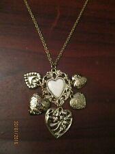 Ladies Heart Cluster Pendant Necklace