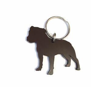 Staffordshire Bull Terrier Staffie Brown Dog Keyring Lanyard Keychain Gift