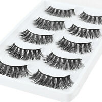 10 Pairs 100% Mink Natural Thick Eyelashes Pro Makeup False Eye Lashes Extension