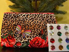 2* ESTEE LAUDER  Leopard Print  Makeup Cosmetic Bag Travel ZIP