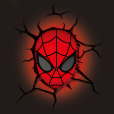Mini 3D FX Deco Light  Spider-man Mask Led Night Lamp Wall Mounted Design