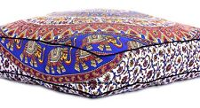 "35"" Large Floor Cushion Pillow Cover Elephant Printed Square Room Decor Covers"