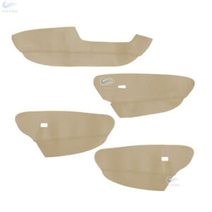 4pcs Micro Leather Driver Door Armrest Panel Cover For BMW X5 E70 2007-2013