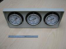 Triple refrigerant pressure gauges, White face, Made in Japan