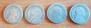 Portugal 1 Escudo 4 coin set 1927,1928,1929 and 1940 F-G Condition