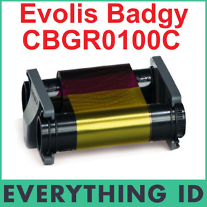 EVOLIS BADGY CBGR0100C YMCKO COLOUR 100 PRINT RIBBON FOR BADGY100 & BADGY200