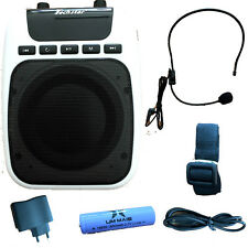Amplificatore Megafono voce con microfono archetto radio FM USB guida turistica
