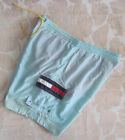 MENS SIZE L - TOMMY HILFIGER - BLUE YELLOW ORANGE SWIM BOARD SHORTS - SWIMMERS