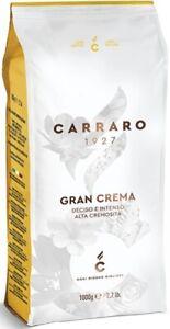 Carraro 1927 Gran Crema Espresso Italian Coffee Beans 1kg - TRACKED SERVICE -