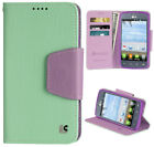 MINT PURPLE INFOLIO WALLET CREDIT CARD CASE STAND FOR LG OPTIMUS DYNAMIC-2 L39C