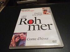 """COFFRET 2 DVD """"PAULINE A LA PLAGE Arielle Dombasle / CONTE D'HIVER"""" Eric ROHMER"""