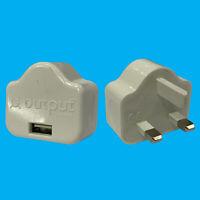 1 Port USB Phone, Tablet Wall Charger UK 3 Pin Plug Adapter
