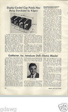 1955 PAPER AD Kilgore Toy Cap Gun Pistol Store Display Rack Article Westerville