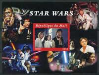 Mali 2018 Star Wars Stamp Sheet Luke Han Leia Stamps Sheetlet