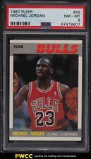 1987 Fleer Basketball Michael Jordan #59 PSA 8 NM-MT