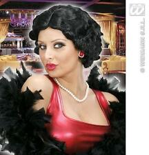 Ladies Short Black Wig Betty Boop Charleston Flapper 40'S Fancy Dress