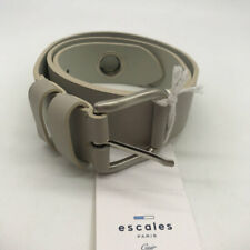 Escales Grey Leather Belt Size Small