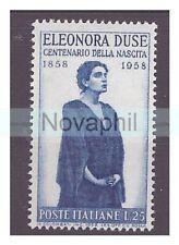 ITALIA  1958 - ELEONORA DUSE  NUOVO **