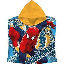 Marvel Ultimate Spiderman Velour Hooded Poncho Towel Cm 60 X 120cm