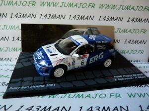 RIT30 voiture 1/43 IXO Altaya Rallye FORD Focus San Marino 2001 Andreucci