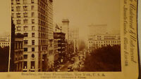 STEREOVIEW  Rppc card 1897 BROADWAY, NEW YORK  AMAZING TOWN VIEW
