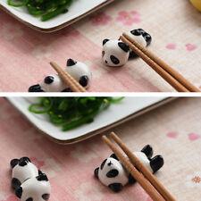 3x Cute Mini Panda Porcelain Ceramic Chopstick Rest Rack Holder Stand Tray Mount