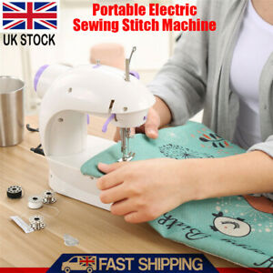 Electric Sewing Machine Stitches Adjustable 2 Speed With Foot Pedal LED Home DIY