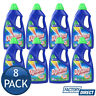 8 x DYNAMO LAUNDRY LIQUID DETERGENT FRONT TOP LOADER STAIN REMOVER EUCALYPTUS 1L