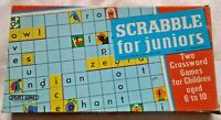 Scrabble for Juniors J W Spear Vintage 1970's 2 Crossword games in 1 Board Game