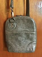 BoBo Bags California Metallic Gray Crossbody Leather Bag/Purse/Handbag NWOT