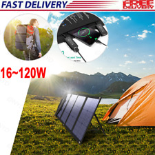 16~120W Foldable Solar Panel Charger for Power Station Generator&Laptop Tablet,/