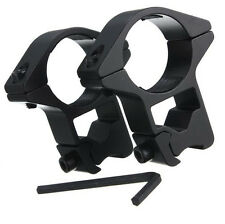 """High Profile 25mm/1"""" Scope Rings Tactical 11mm Dovetail Weaver Rail Mount 2Pcs"""
