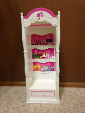 2008 Barbie Doll 3-Story Dream House Townhouse Wardrobe Closet Bedroom Furniture