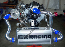 """CXRacing 3"""" Core Intercooler Piping BOV Kit For 79-93 Ford Mustang LS1 LSx Blue"""