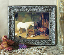 NEW ITEM HERRING After Work Horse Print Antique Styl Framed 11X13 Pony