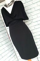 ARMANI Jeans Black Dress LBD Sz 38 EU / XS / 6 - 8 UK / Party Evening Wiggle b7
