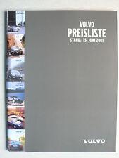 Prospekt / Preisliste Volvo Stand 15. Juni 2001, 82 Seiten