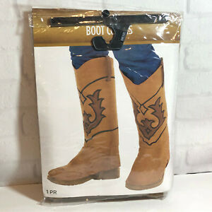 Western Cowboy Boots Adult Boot Tops Cover Costume Accessory Cosplay