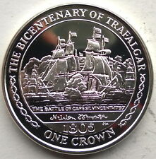 Isle of Man 2005 Battle of Trafalgar Crown Silver Coin,Proof-B