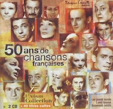 50 Ans de Chansons Francaises ~ 2-Disc Music CD -  Free ship!