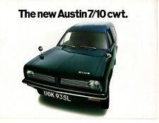 Austin 7 10 cwt Morris Marina Van UK Brochure Depliant Excellent Condition 1972