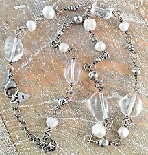 Silpada 925 Sterling Silver Freshwater Pearl Crystal Bead Necklace N1602 RETIRED