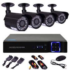 4CH AHD 720P Videoüberwachung Set DVR Recorder +4x Überwachungskamera wetterfest