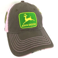 John Deere Hat Camouflage Cap Realtree Camo Baseball Adjustable Embroidered Pink