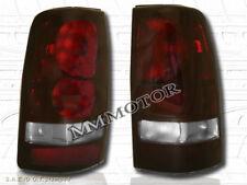 99-02 CHEVY SILVERADO 99-03 GMC SIERRA 1500 2500 PICKUP TAIL LIGHTS DARK RED