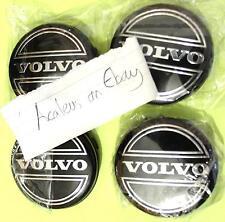 Volvo S40 Centre Caps Set of 4x Alloy Wheel 64mm Black Hub